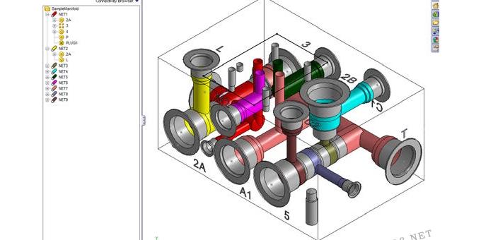 液压阀块设计软件MDTools快速创建空的阀块