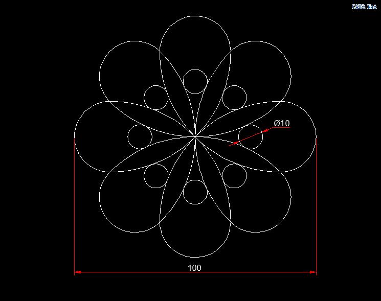 [CAD习题] 基础练习115.png
