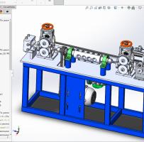 线材矫直机3D(Solidworks)