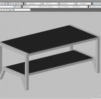 桌子(1200x600)dwg三维